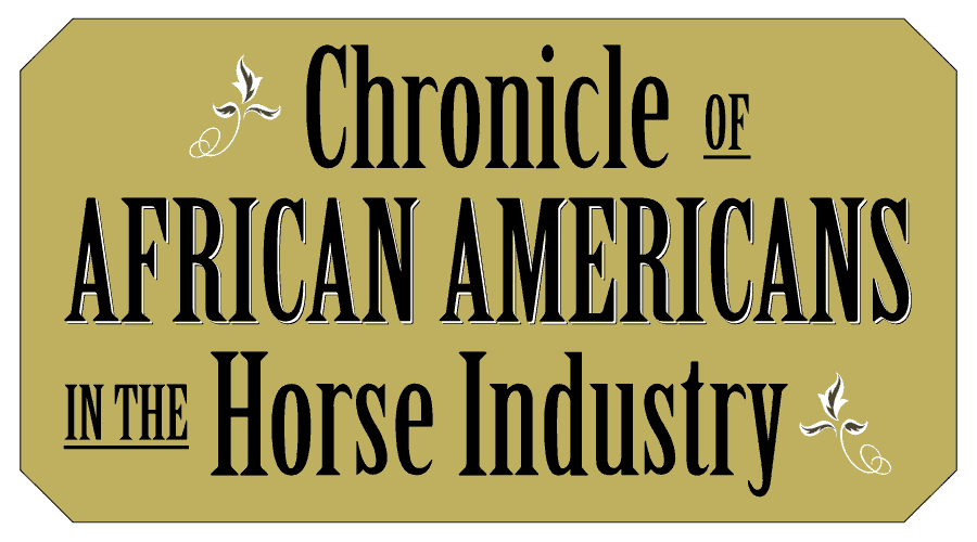 Chronicle of African Americans in the Horse Industry Vector Logo